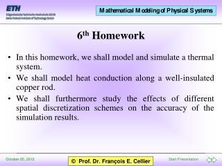 6 th  Homework