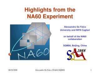 Highlights from the NA60 Experiment