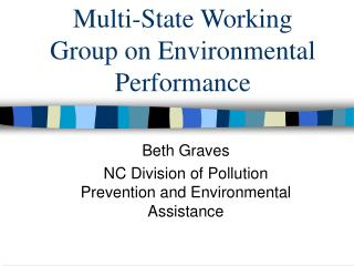Multi-State Working Group on Environmental Performance