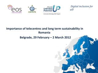 Importance  of telecentres and  long term  sustainability in Romania