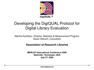 Developing the DigiQUAL Protocol for Digital Library Evaluation