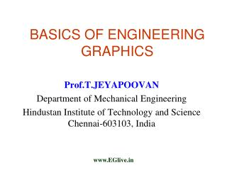BASICS OF ENGINEERING GRAPHICS