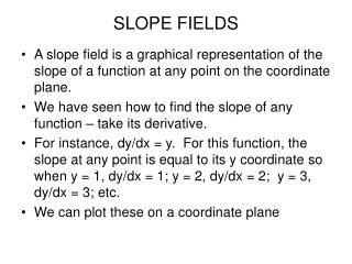 SLOPE FIELDS
