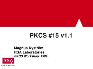 PKCS #15 v1.1