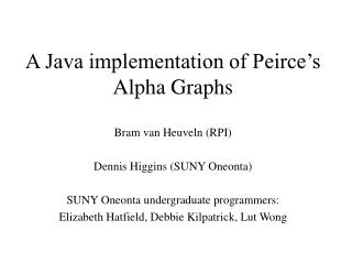 A Java implementation of Peirce's Alpha Graphs