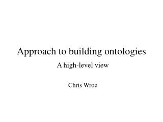 Approach to building ontologies