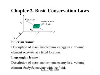 Chapter 2. Basic Conservation Laws
