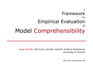 A Framework for Empirical Evaluation of Model  Comprehensibility