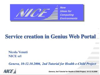 Service creation in Genius Web Portal