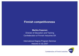 Finnish competitiveness