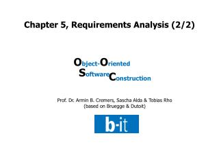 Chapter 5, Requirements Analysis (2/2)