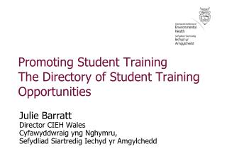 Promoting Student Training The Directory of Student Training Opportunities