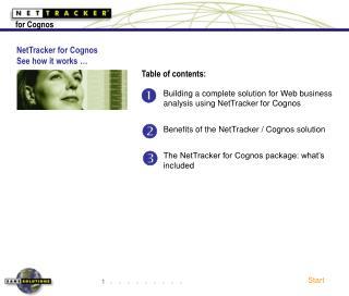 NetTracker for Cognos - See How it Works