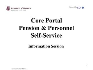Core Portal  Pension & Personnel  Self-Service