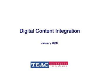 Digital Content Integration