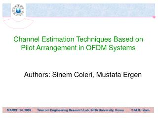 Channel Estimation Techniques Based on Pilot Arrangement in OFDM Systems
