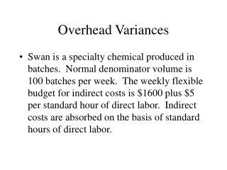Overhead Variances