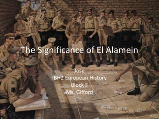 The Significance of El Alamein