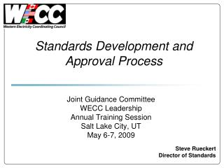Standards Development and Approval Process