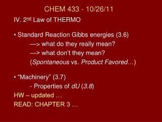 CHEM 433 - 10/26/11