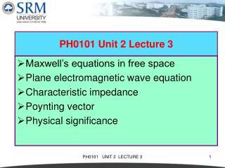 PH0101 Unit 2 Lecture 3