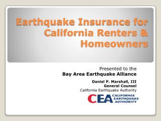 Earthquake Insurance for California Renters & Homeowners