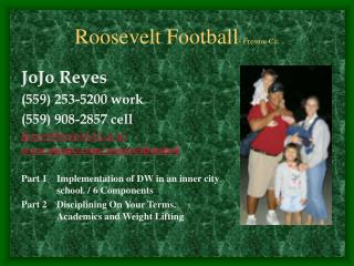 Roosevelt Football - Fresno, Ca.