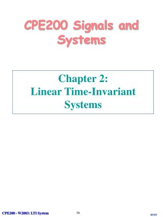 CPE200 Signals and Systems