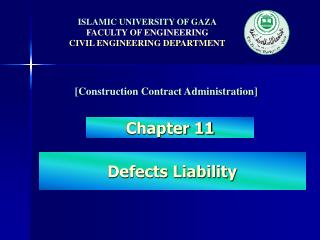 ISLAMIC UNIVERSITY OF GAZA FACULTY OF ENGINEERING CIVIL ENGINEERING DEPARTMENT