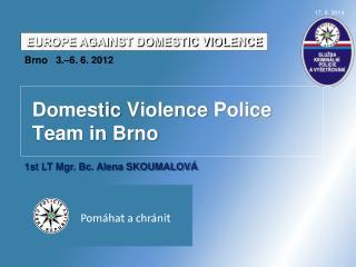 Domestic Violence  Police Team in Brno