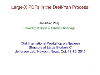 Large-X PDFs in the Drell-Yan Process