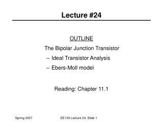 Lecture #24