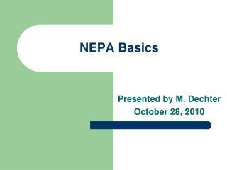 NEPA Basics