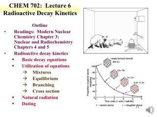 CHEM 702:  Lecture 6 Radioactive Decay Kinetics