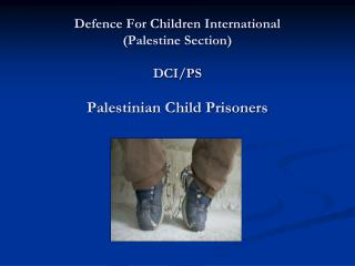 Defence For Children International   (Palestine Section) DCI/PS Palestinian Child Prisoners