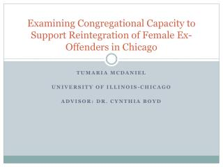 Examining Congregational Capacity to Support Reintegration of Female Ex-Offenders in Chicago