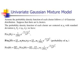 Univariate  Gaussian Mixture Model