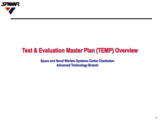Test  Evaluation Master Plan TEMP Overview