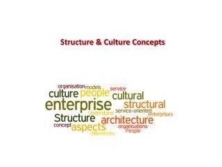 Structure & Culture Concepts