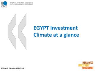 EGYPT Investment Climate at a glance