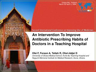 An Intervention To Improve Antibiotic Prescribing Habits of Doctors in a Teaching Hospital