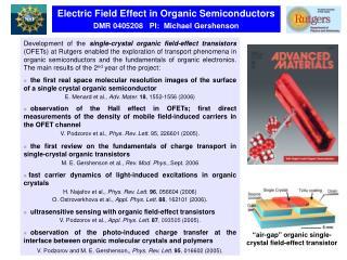 """air-gap"" organic single-crystal field-effect transistor"