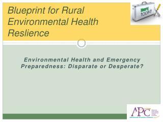 Blueprint for Rural Environmental Health Reslience