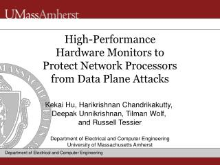 High-Performance  Hardware Monitors to  Protect Network Processors from Data Plane Attacks