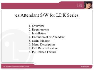 ez Attendant S/W for LDK Series