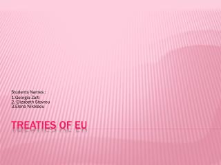 Treaties of EU