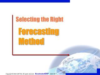 SAP APO Demand Planning Forecast techniques