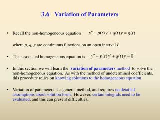 3.6    Variation of Parameters