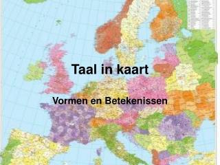 Taal in kaart