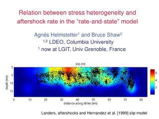 "Relation between stress heterogeneity and aftershock rate in the ""rate-and-state"" model"